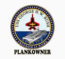 USS George H.W. Bush (CVN-77) Plankowner Crest Unisex T-Shirt