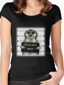 Meerkat Mugshot Women's Fitted Scoop T-Shirt