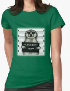 Meerkat Mugshot Womens Fitted T-Shirt