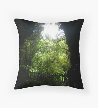 Glow Worm Caverns Throw Pillow