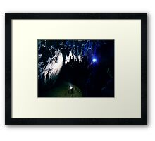 Waitomo Glow Worm Caves Framed Print