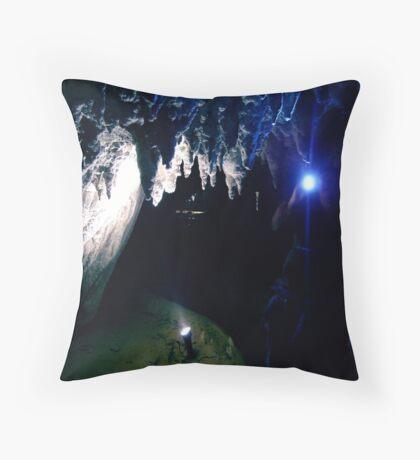 Waitomo Glow Worm Caves Throw Pillow