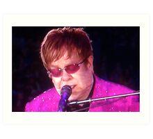Sir Elton John Art Print