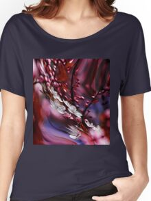 hipster nature zen Impressionism floral plum flower Women's Relaxed Fit T-Shirt