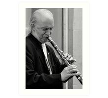 clarinet player Art Print