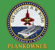 USS George H.W. Bush Plankowner Crest for Dark Colors Baby Tee