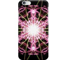 pink blast on Black iPhone Case/Skin