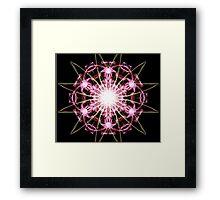 pink blast on Black Framed Print