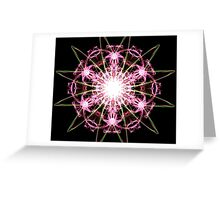 pink blast on Black Greeting Card