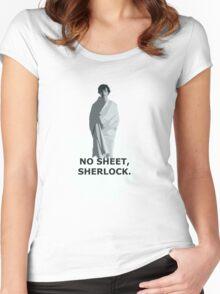 No sheet, Sherlock Women's Fitted Scoop T-Shirt