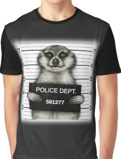 Meerkat Mugshot Graphic T-Shirt