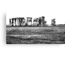 Monochrome Stonehenge Canvas Print