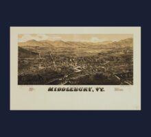 Panoramic Maps Middlebury Vt Kids Tee
