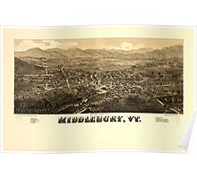 Panoramic Maps Middlebury Vt Poster