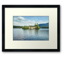 The Castle On The Island In The Loch Framed Print