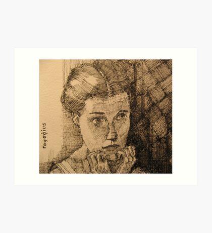 Girl in the Mirror Art Print