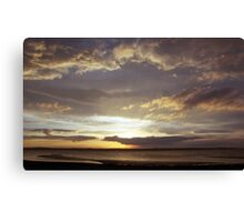 Llanfairfechan beach at sunset. Canvas Print