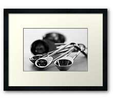 Measuring spoons Framed Print