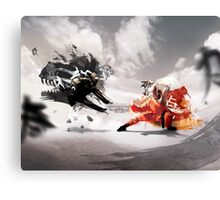 One must win Canvas Print