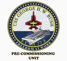 PCU George H.W. Bush (CVN-77) Crest by Spacestuffplus