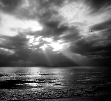 Sun Rays over the Gulf of Mexico by Kelly Rockett-Safford