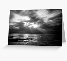 Sun Rays over the Gulf of Mexico Greeting Card
