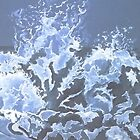 waves bursting onto rocks by Hannah Clair Phillips