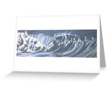 single beautiful wave Greeting Card