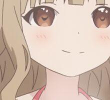 Sakurako enjoying cocoa Sticker