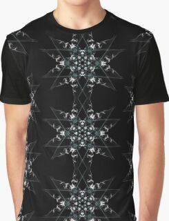 snow star on Black Graphic T-Shirt