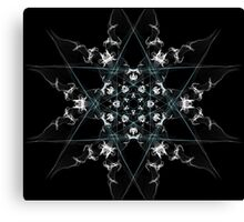 snow star on Black Canvas Print