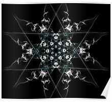 snow star on Black Poster
