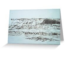 light wave Greeting Card