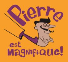 Pierre est Magnifique - cartoon drawing of trapeze artist with handsome mustache by DiabolickalPLAN