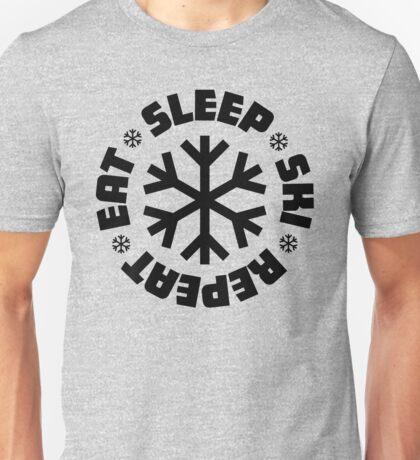 Eat Sleep Ski Repeat Unisex T-Shirt