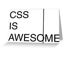 CSS is Awesome Greeting Card