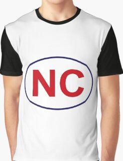 North Carolina State Sticker Graphic T-Shirt