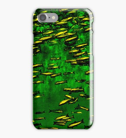 Underwater Abstract Gallery - Piece 4 (Deep Emerald) iPhone Case/Skin