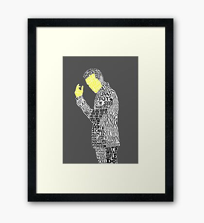Jim Moriarty Typography Art Framed Print