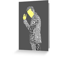 Jim Moriarty Typography Art Greeting Card