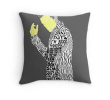 Jim Moriarty Typography Art Throw Pillow