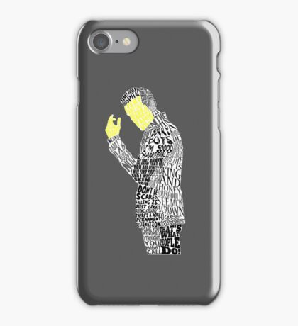 Jim Moriarty Typography Art iPhone Case/Skin