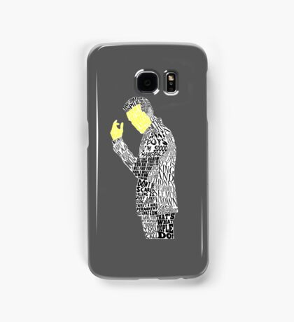 Jim Moriarty Typography Art Samsung Galaxy Case/Skin