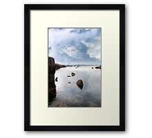 tranquil coastal kerry view Framed Print