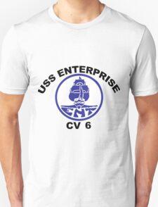 USS Enterprise CV-6 Crest T-Shirt