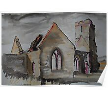 'Old Llanwarne Church, Herefordshire' Poster