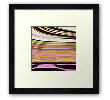 trendy abstract black white yellow green pink lines Framed Print