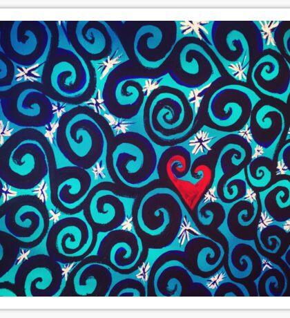 Heart Scrolls Sticker