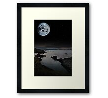 tranquil night time coastal irish view Framed Print