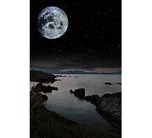 tranquil night time coastal irish view Photographic Print